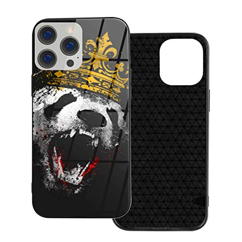 Can be Installed i-Phone 12 Tempered Glass Phone case / 12 Pro / 12 Mini/max Shockproof Soft case King Panda