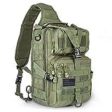 hopopower Tactical Sling Bag Pack Military Assault Rucksack Shoulder Bag Backpack Chest Pack Handbag...