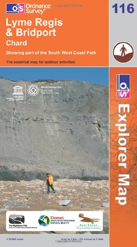 OS Explorer map 116 : Lyme Regis & Bridport