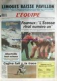 EQUIPE (L') [No 13582] du 05/01/1990 - LES CHAMPIONS DE FRANCE A SPLIT - FOUROUX - ECOSSE - LES JEUX D'ALBERTVILLE - CAGIVA - PARIS-DAKAR - ATHLETISME - JOHNSON - RUGBY - MELVILLE - FOOT - BORDEAUX.