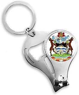 Saint John 's Antigua y Barbuda emblema clave Anillo Cadena Toe Nail Clipper cortador Tijeras Kit de herramientas abridor de botellas Regalo