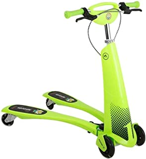 SUN HUIJIE Child Sports Kick Scooters Traveling Children's Scooter, Pu Wheel Push Swing Slider Wiggle Trike Striker Drifter Scooter for 2-12 Years Old Outdoor Mini Balance Car Toy