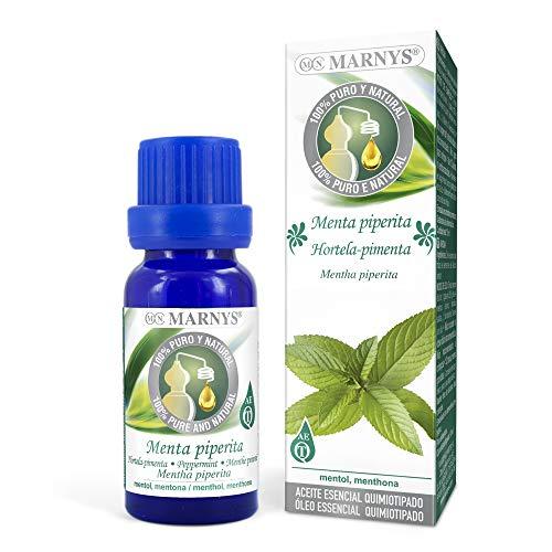 MARNYS Aceite Esencial Menta Piperita 100% Puro Quimiotipado - 15 ml