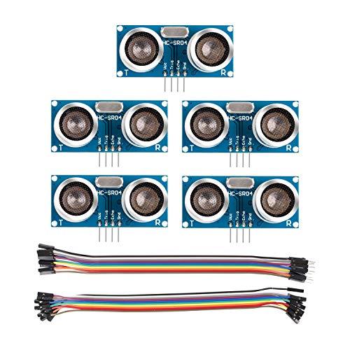 SunFounder HC-SR04 - Sensor ultrasónico y sensor de distancia para Arduino UNO, Mega2560, Nano, Roboter, XBee, ZigBee, Rapsberry Pi 3 B+, 2 y RPi Model B+