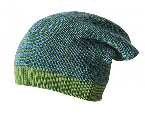 Disana Long Beanie wol 3 / L (50-54) groen-melange