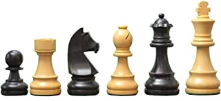 Chessbazaar Tournament Series Staunton Chess Pieces with German Knight in Stained Dyed & Box Wood 4 Queens India