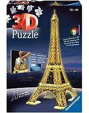 Ravensburger - 3D Puzzle Building Tour Eiffel Night