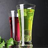 Copa de vino rojo de cristal de leche – Taza de jus Shake de cristal de vaso de cerveza fría, taza de coca Cola, taza de cuerno 345 ml [taza simple]