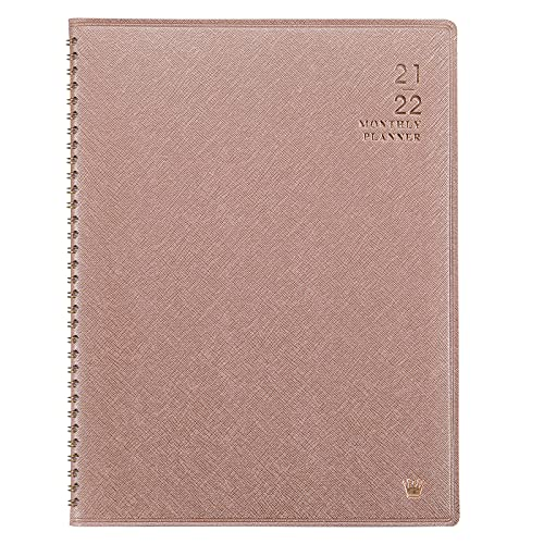 2021-2022 Monthly Planner - Jul 2021 - Dec 2022, Monthly Calendar/Planner 2021-2022 with Faux Leather, 8.86 x 11.4, 15 Note Pages, Twin-Wire Binding, Pocket, Monthly Tabs, Perfect Organizer