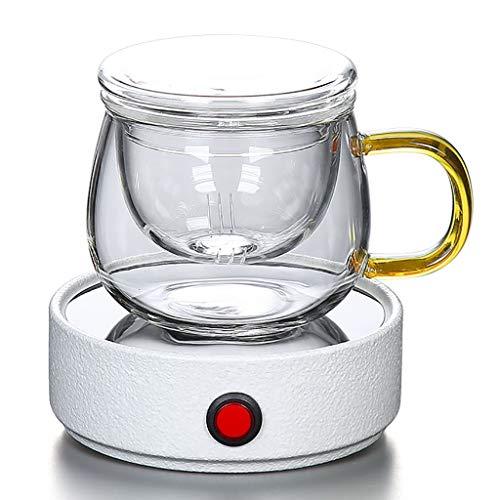 KFHWQ Wug Warmer, Constante Temperatuur Verwarming Coaster Glas Theepot Isolatie Basisbeker Thermostaat Treasure Warm Cup 60 Graden, 25 W Elektrische Verwarming Theeset