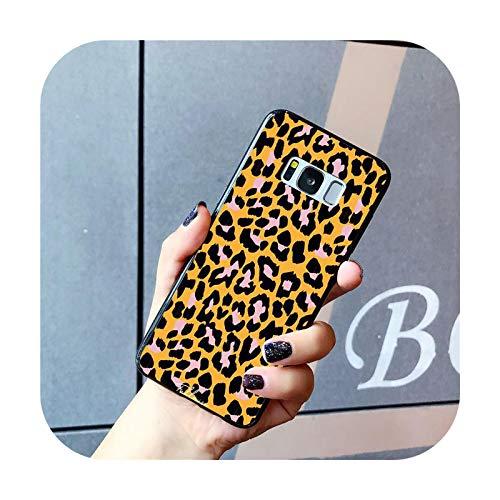 Phone cover Funda de teléfono de leopardo para Samsung Galaxy S20 S10 Plus S10E S6 S7 S8 S9 S9Plus S20 S10Lite-A15-para S7