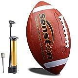Senston Football Americain Unisexe-Jeune Ballon Football Américain en Cuir Composite Durable au Toucher Doux