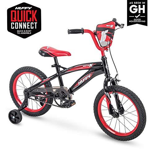 18' Huffy MotoX Boys Bike, Gloss Black