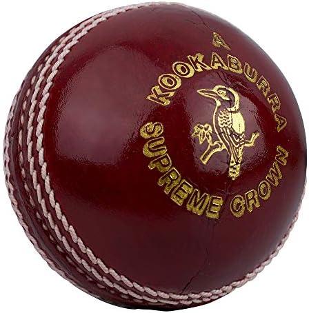 Kookaburra Unisex s Supreme Crown Cricket Ball Red Mens product image
