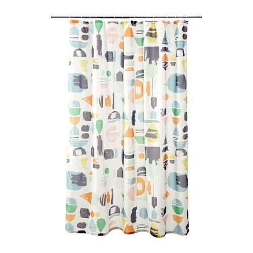 IKEA DOFTKLINT Duschvorhang in bunt; (180x200cm)