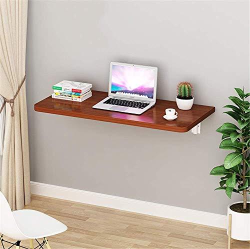 ZJHCC 2,5 cm Dicker MDF-Wandschreibtisch, ausklappbare Cabrio-Werkbank Perfekte Ergänzung für kleine Räume, braun, 80 * 30 * 2,5 cm