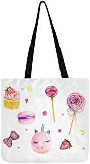 Beautiful Lollipop Pink Canvas Tote Handbag Shoulder Bag Crossbody Bags Purses For Men And Women Shopping Tote