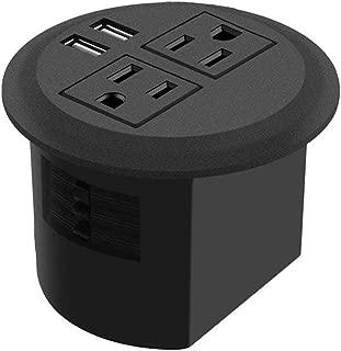 3inch Desktop Power Grommet Desk Outlet Grommet, Desk Hole Cover Data Center Grommet Easy to Install