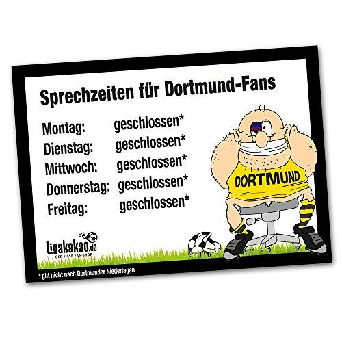 Büro-Abwehrschild Dortmund | Schützt den Arbeitsplatz von S04-, Bayern- & Allen Fußball-Fans vor verirrten Dortmundern | Öffnungszeiten Sprechzeiten-, Eingangs- & Tür-Schild