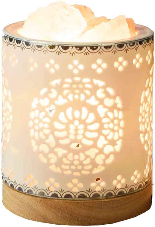 Nachtlichter Salz Lampe Himalaya Steinsalz Lampe Kristalle Lampe Gesundheitswesen Tischlampe Luftreinigung Nachtlicht Geschenk Innenbeleuchtung (Farbe   Orange, Größe   12  12  15cm)