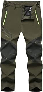 Mens Outdoor Waterproof Hiking Pants Fishing Trousers Fleece Lined Pant
