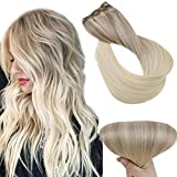 Cheveux Tissage/Remy Blonde Cendrée & Blond Clair & Blond Platine Tissage Extensions Pour Le Mariage par Easyouth (1 Bundles: 45cm De Long & 150cm De Large, 18/22/60, 80g)