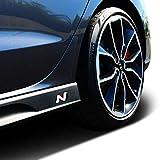 Juego de 2 pegatinas originales con el logotipo N OEM para faldones laterales con ajuste perfecto para relieves existentes.