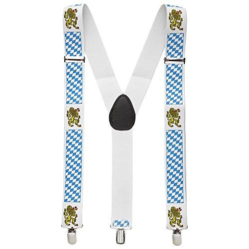 Widmann 7993B Bayerische Hosenträger, unisex-adult, Einheitsgröße, Blau