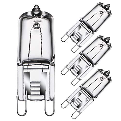 Halogen G9 Ofenbirnen 40W 230V für Ofen- und Mikrowellenherd-Glühbirnenanwendungen 300°C Hitzetolerante Glühbirnen 4er-Pack