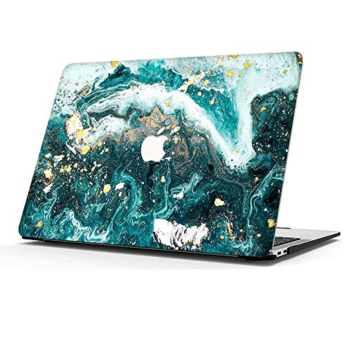 MOKASECaseCompatiblewith Macbook Pro 13 Inch 2016-2020 with/without Touch Bar, A2338 M1 A2289 A2251 A2159 A1989 A1706 A1708 HardPlasticProtectiveCoverforNew Mac Pro 13 Inch, Green Marble