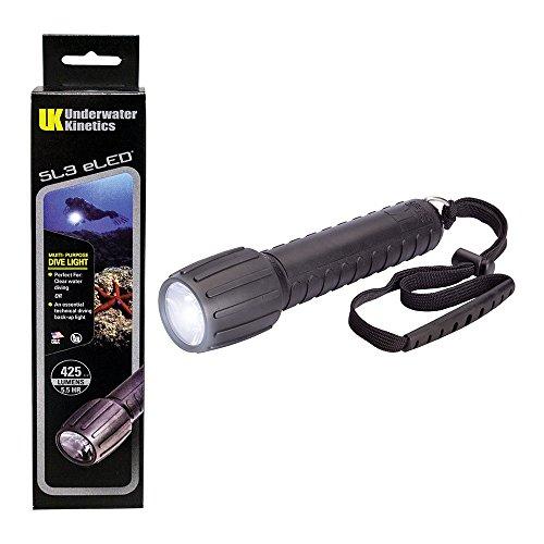 Underwater Kinetics SL3 eLED (L2) Dive Light, Black, With Batteries
