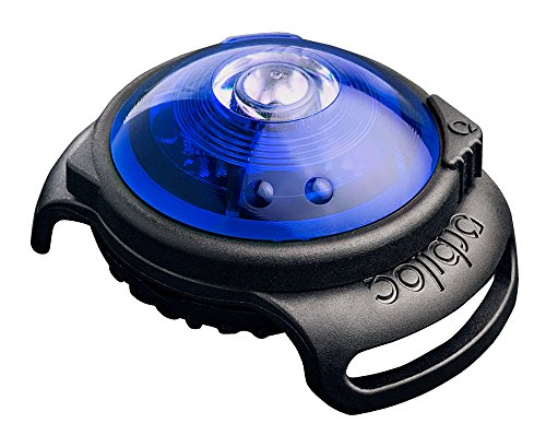 William Hunter Orbiloc Dog Dual Safety Light Hundelicht mit Befestigungsgummi, blau