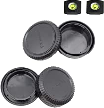 Fuji X Front Body Cap & Rear Lens Cap Cover kit for Fujifilm X-T4 X-T3 X-T1 X-T2 X-T30 X-T20 X-T10 X-H1 X-T200 X-T100 X-PRO3 More Fujifilm Fujinon X Mount Camera & Lens Accessory with Hot Shoe Cover