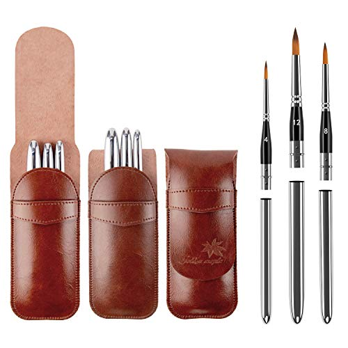 Golden maple Malpinsel, geeignet für Acryl-, Öl- und Wasserfarben, Malbedarf, Travel Paint Brushes, 3pcs(4,812)