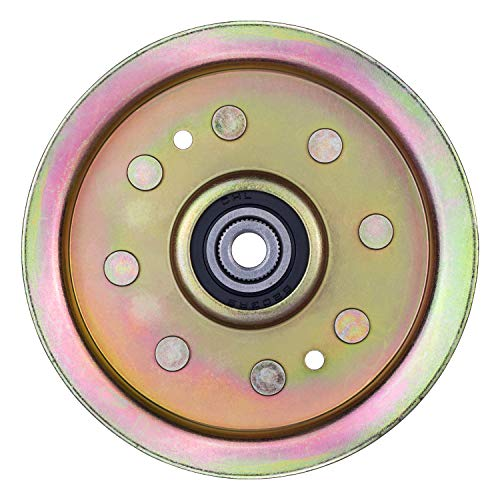 Idler Pulley for Cub Cadet Mower - Idler Pulley Bearing Fit for Cub Cadet LT1050 LT1045 LTX1040 LTX1046 LTX1045 LTX1050 RZT50 Riding Lawn Mower Tractor with 42' 46' 48' 50' 54' Deck, Replace 756-04129