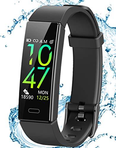 JAZIPO Fitness Armband Schrittzähler, Fitness tracker mit Herzfrequenzmesser Blutdruckmessung Pulsuhr Kalorienzähler GPS, IP68 wasserdichter Smartwatch Fitness Uhr Sportuhr für Damen Herren Kinder Y39