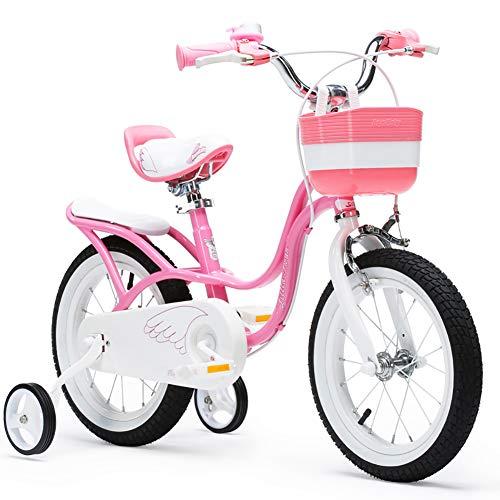"""XIAOFEI Bicicleta NiñA para Bebé Bicicleta MontañA, InstalacióN RáPida Y FáCil Cuatro Pasos Llantas Goma Anchas, Bicicleta para Bebé 3~6 AñOs 14/16/18 Pulgadas,18"""""""