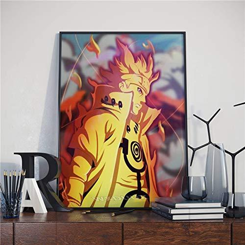 fdgdfgd Anime Naruto Dragon Ball Awakening State Goku decoración Familiar Arte decoración Cartel Lienzo Pintura