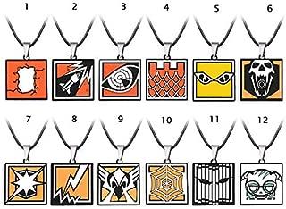 Value-Smart-Toys - 1PCS - 12 Models Game Rainbow Six Siege Necklace Metal Tom Clancy Necklaces & Pendants Souvenir Kolye Collares Men Gift HF12808