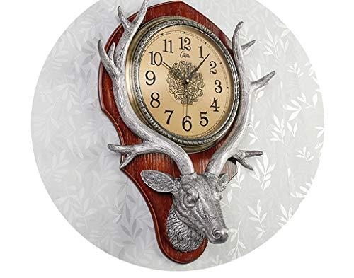 Salon Horloge Murale Tête De Cerf Horloge Chambre À Coucher Tranquille Créative Tranquille Horloge De Mode Européenne Horloge À Quartz