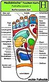 Reflexzonen Set - Medizinische Taschen-Karte: Fussreflexzonen Therapie Fusssohle, Fussrücken + Aussenseiten /Handreflexzonen Therapie: Fussreflexzonen ... Fussrücken + Seiten, Handreflexzonen Therapie