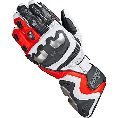 Held Motorradhandschuhe lang Motorrad Handschuh Titan RR Handschuh rot/weiß 9, Herren, Sportler, Ganzjährig, Leder