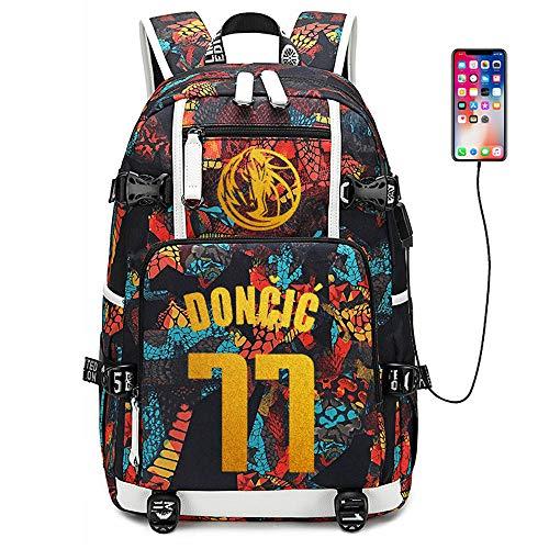 Lorh's store Jugador de Baloncesto Estrella Luka Doncic Mochila multifunción Estudiante de Viaje Mochila para fanáticos para Hombres Mujeres (Estilo 2)