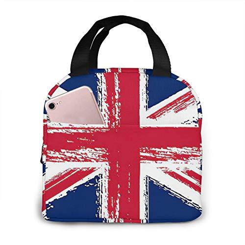 Union Jack Flag - Bolsa de almuerzo portátil con aislamiento impermeable de gran capacidad para viajes, para oficina, escuela, picnic