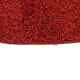 Taracarpet Hochflor Langflor Shaggy Teppich geeignet für Wohnzimmer Kinderzimmer und Schlafzimmer flauschig und pflegeleicht schwarz 080×150 cm - 3