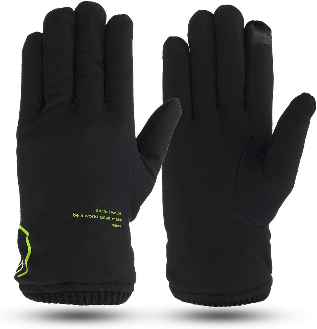 Lupovin-Keep Warm Mens Windproof Winter Driving Gloves Touch Screen Outside Skiing Ardent Thermal Non-Slip (Color : Black)