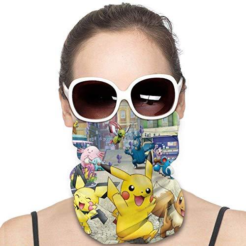 Emonye Po-ké-mon Maske & Schild Gesichtsmaske Schild Schutz für Männer & Frauen Mode Vielfalt Kopftuch Sturmhaube für Staub, Outdoor, Sport