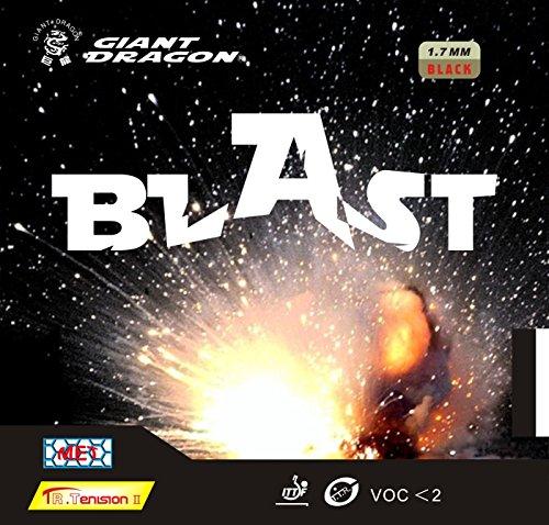 Tenis de mesa caucho: Giant Dragon explosión equipo nacional. Fábrica sintonizado negro 2,1 mm