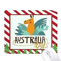 オーストラリアシドニーオペラハウスとキリン ゴムクリスマスキャンディマウスパッド