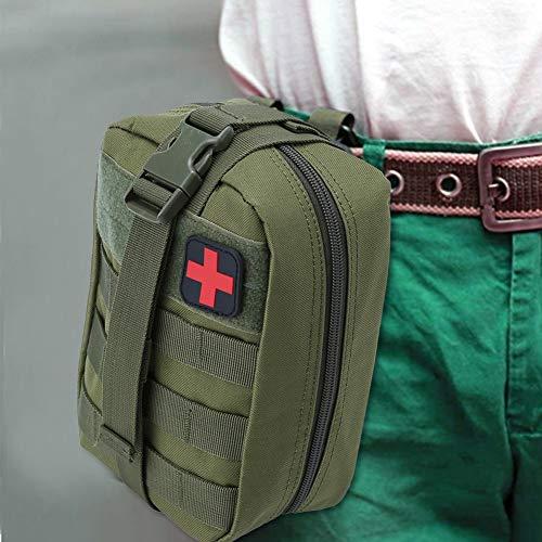 Outdoor Erste-Hilfe-Tasche Notfalltasche Medzinische Hilfe für Outdoor Aktivitäten wie Camping Radfahren Klettern Wandern ( Farbe : Grün ) - 9